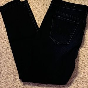 AE - High Rise Jegging, Dark Wash, Ripped